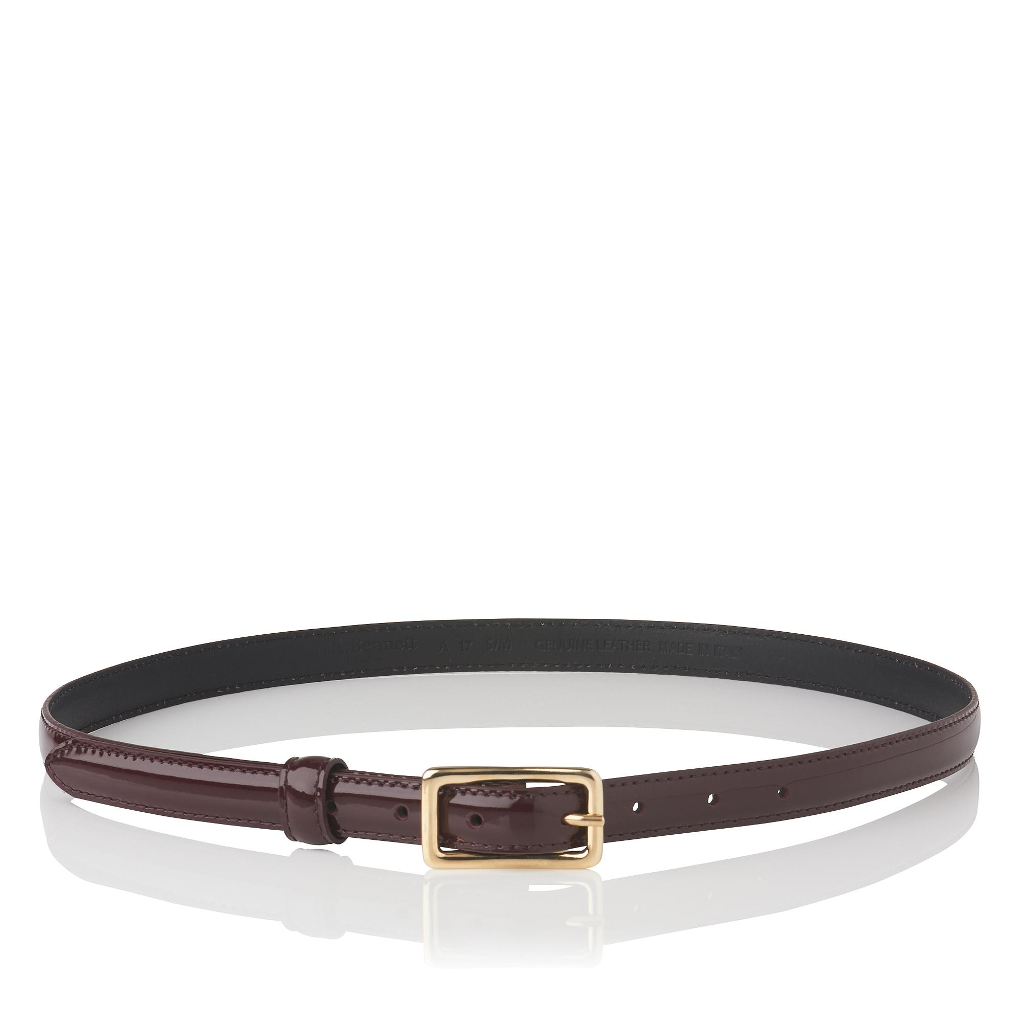 Glenda Oxblood Patent Leather Belt
