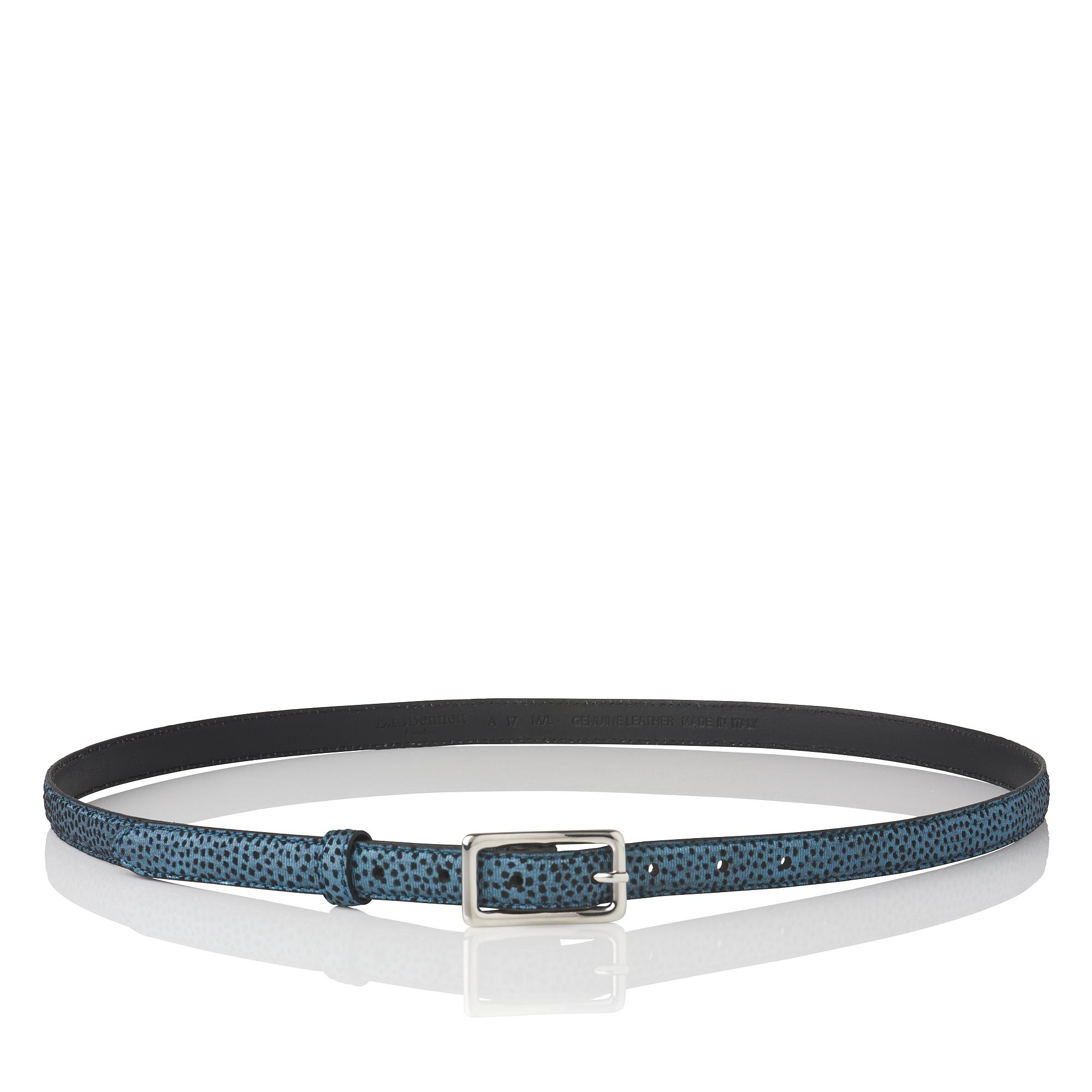 Glenda Blue Metallic Belt