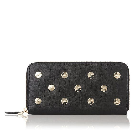 Kenza Black Studded Wallet
