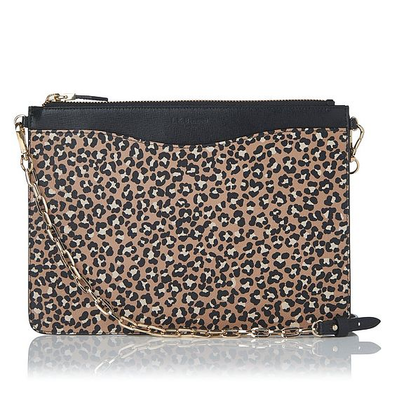 Rachel Animal Print Leather Pouch