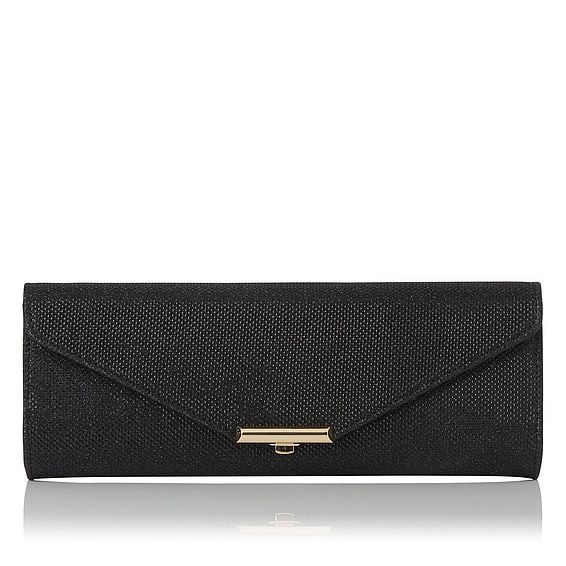 Cecilia Black Lurex Clutch