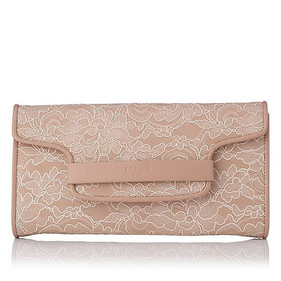 Laura Pink Lace Clutch