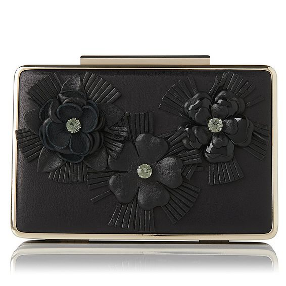 Nina Black Flower Clutch