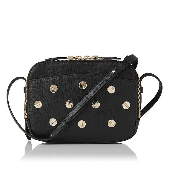 Mariel Black Stud Shoulder Bag