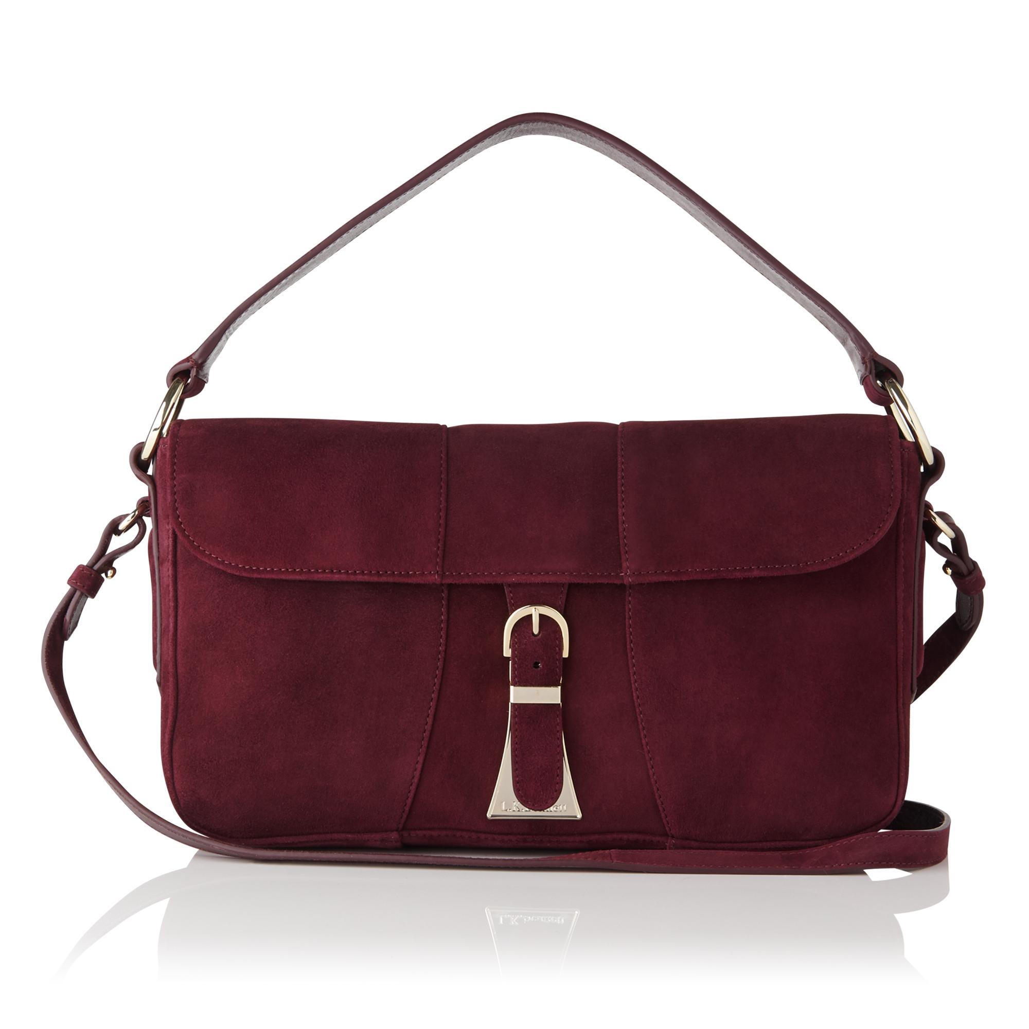 Scarlett Oxblood Red Shoulder Bag