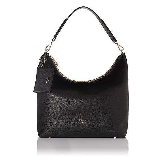 Margot Black Leather Tote Bag
