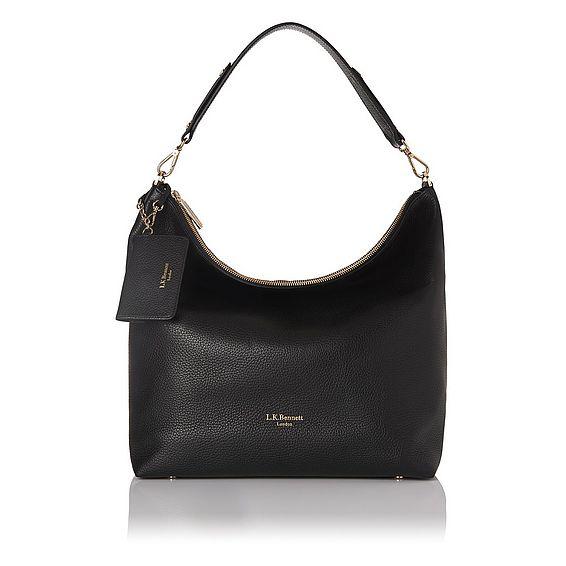 Margot Black Leather Tote Bag