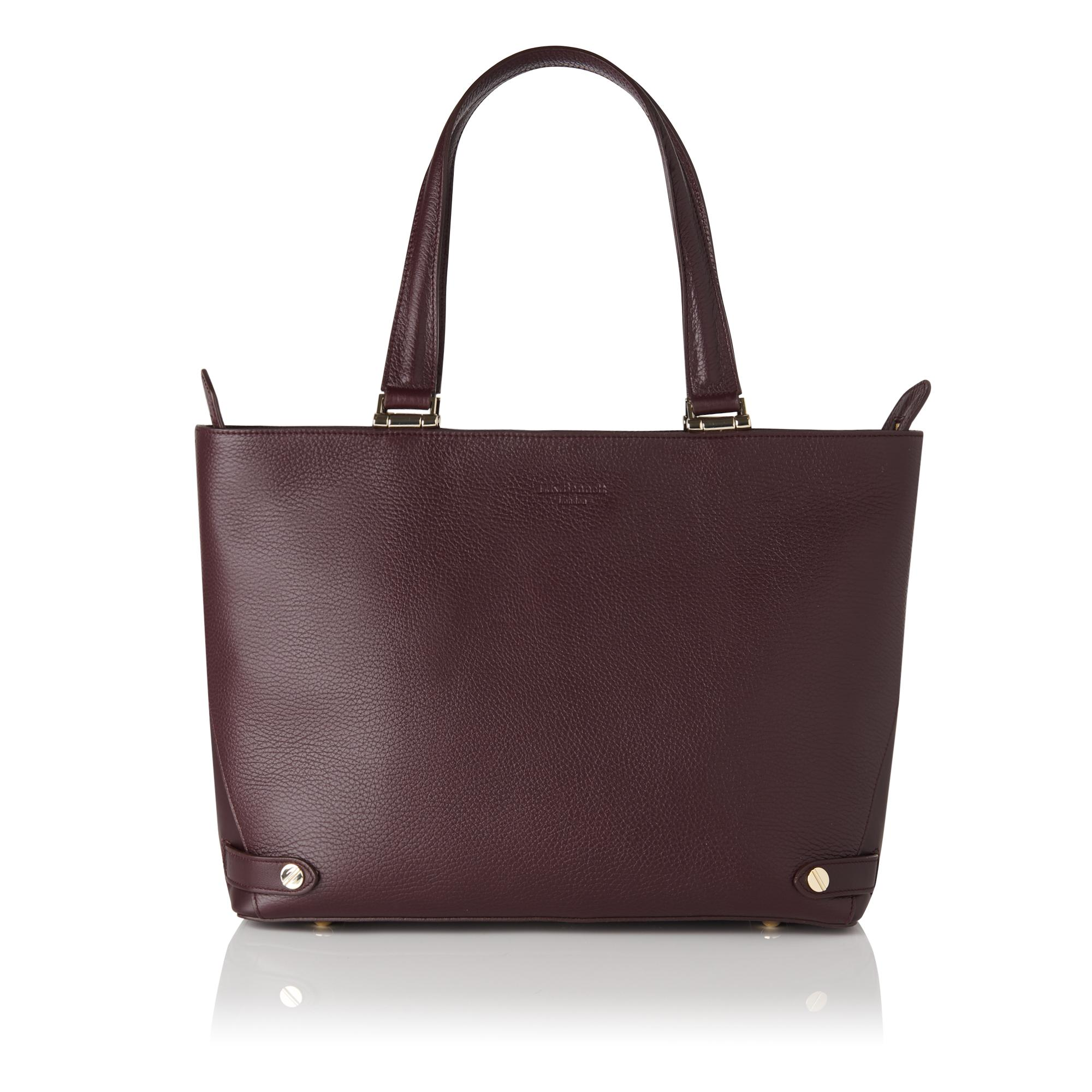 Roberta Oxblood Red Tote Bag