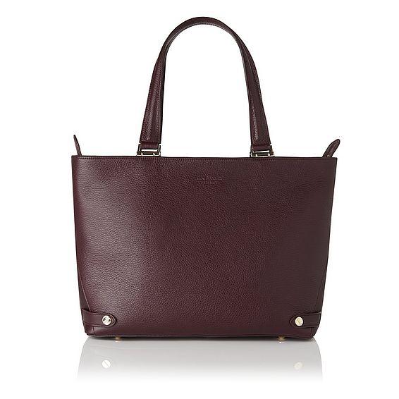 Roberta Oxblood Red Tote Bag