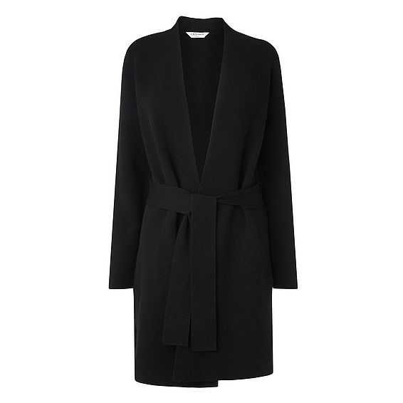 Sephy Black Tie Waist Cardigan