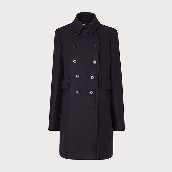 Felli Navy Wool Coat