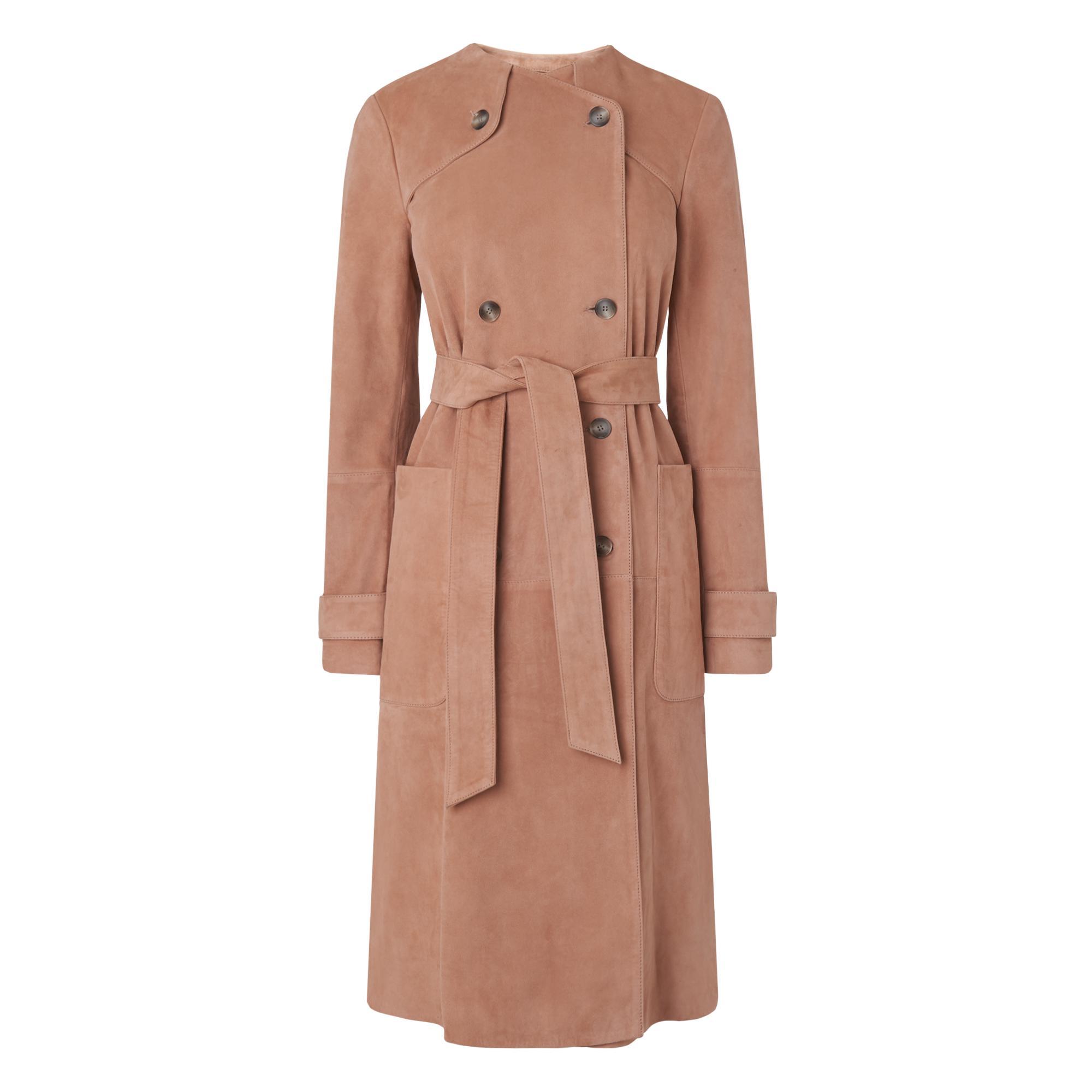 Ria Pink Suede Coat