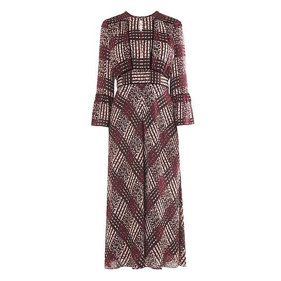 Alys Ruby Print Dress