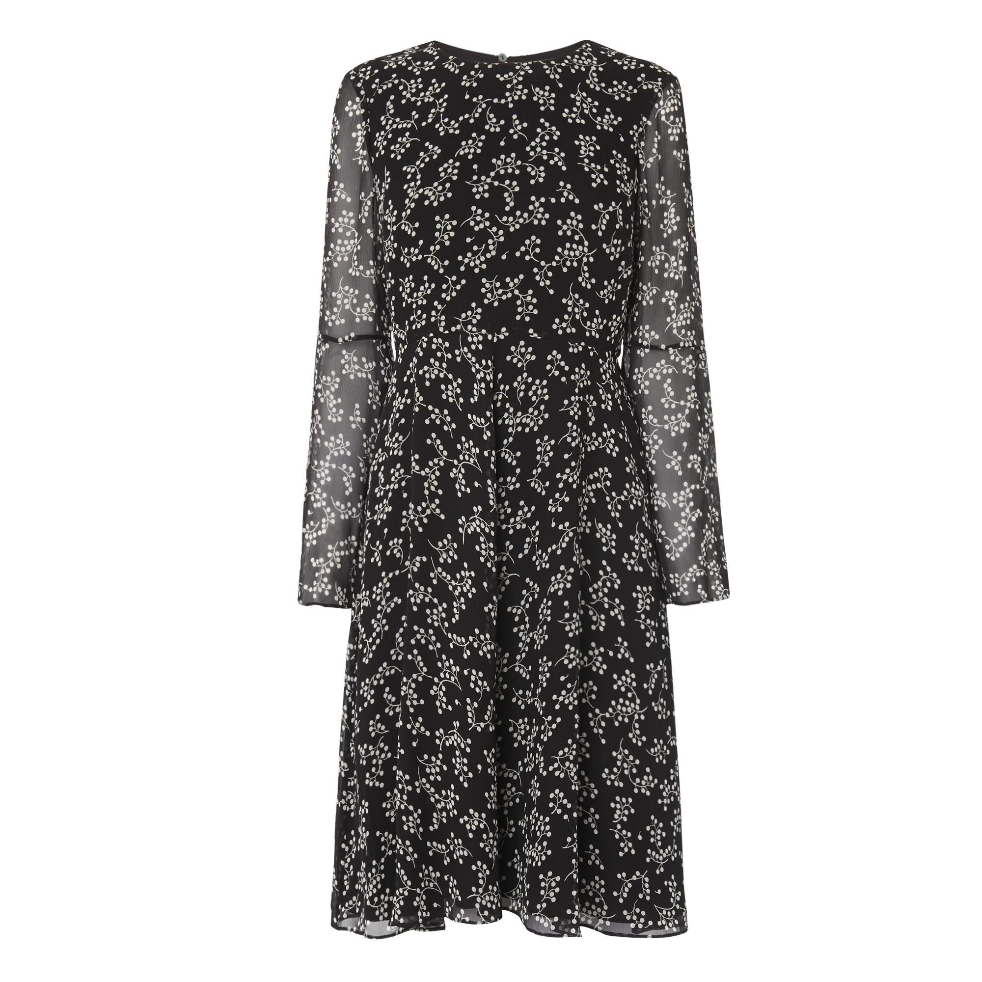 Cecily Black Floral Print Dress