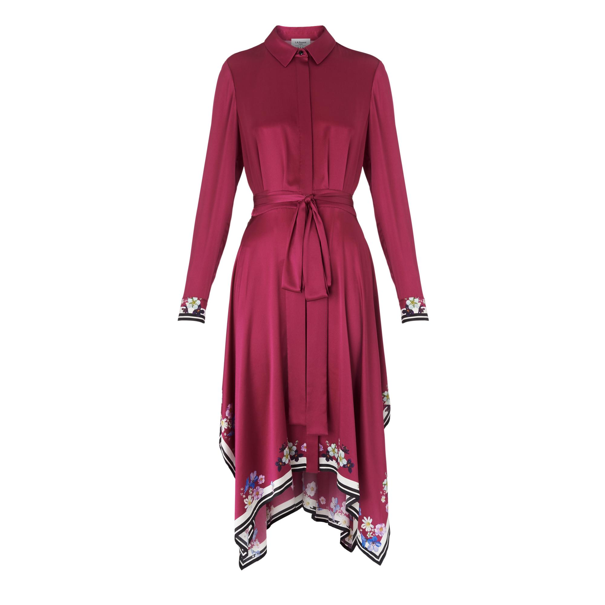 Devoto Pink Silk Dress