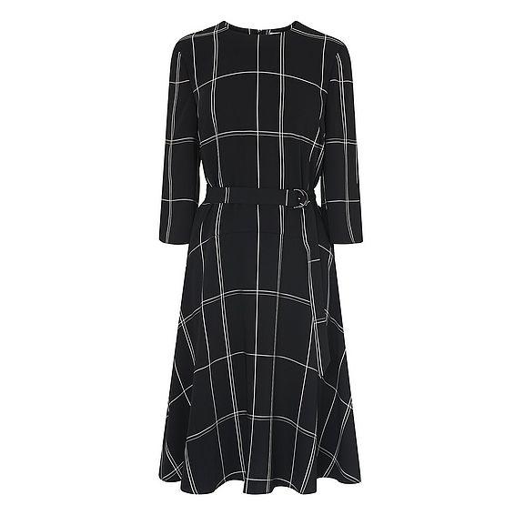 Dinah Black Window Pane Dress