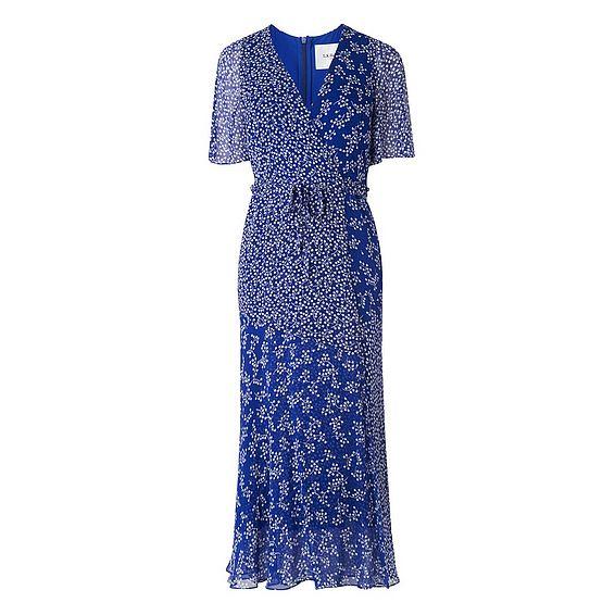 Elif Blue Floral Print Dress