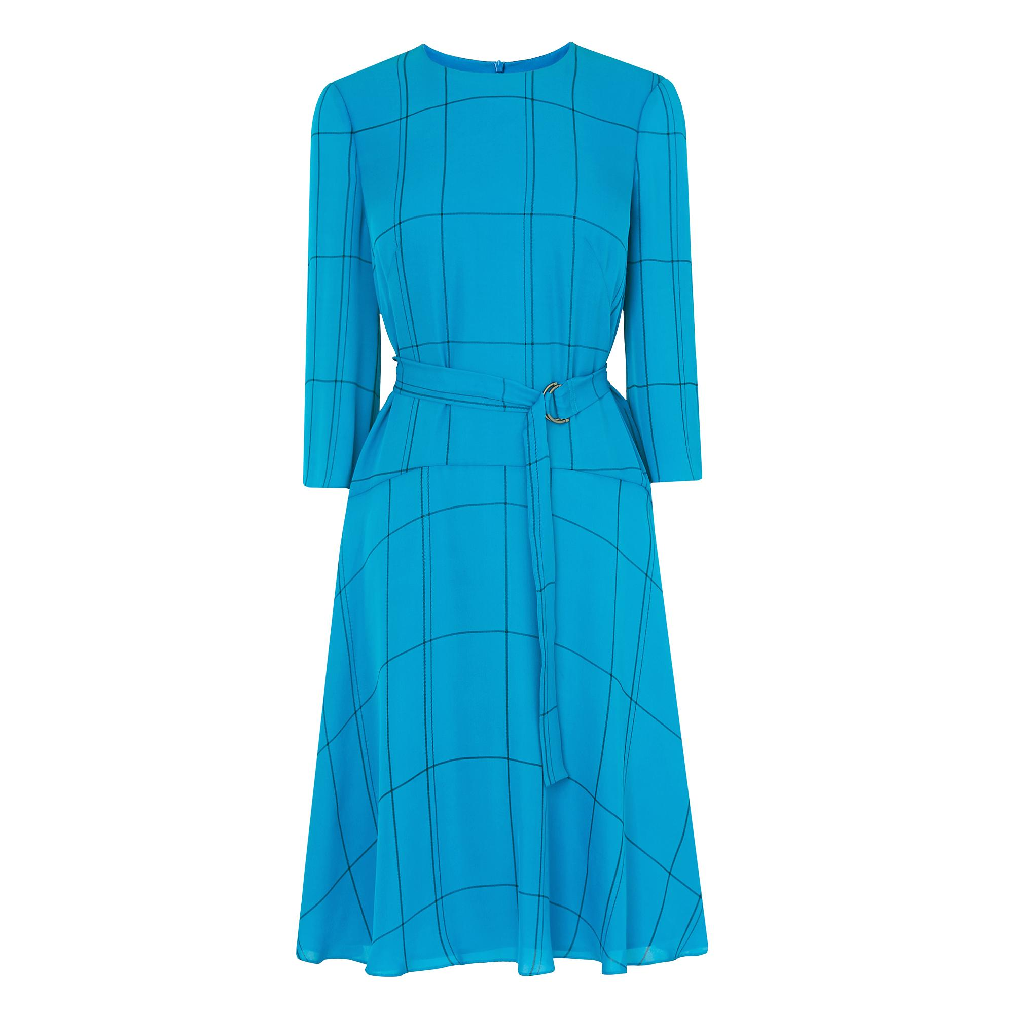 Elva Blue Silk Dress