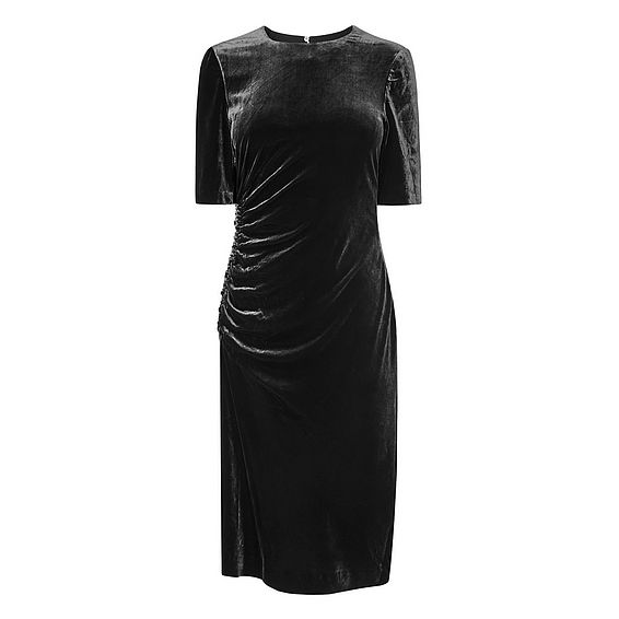Kara Black Velvet Dress