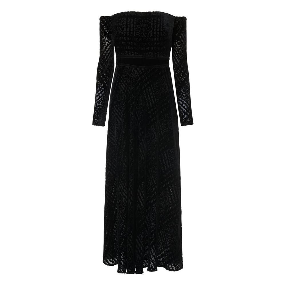 Magalie Black Velvet Dress by L.K.Bennett