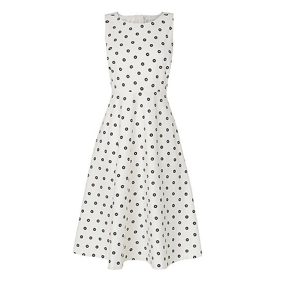 Octavia White Print Dress