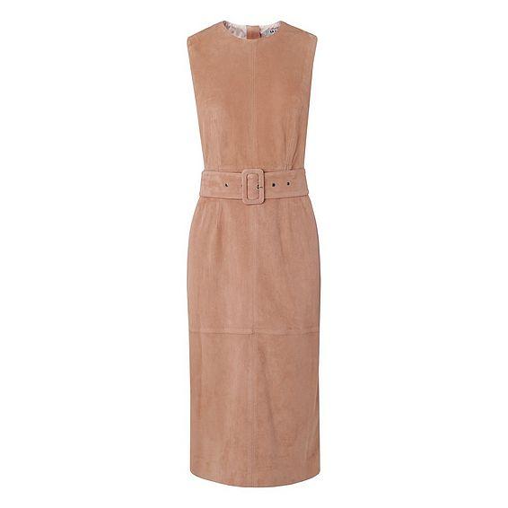 Ria Pink Suede Dress