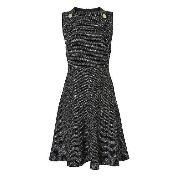 Shelby Black Tweed Dress