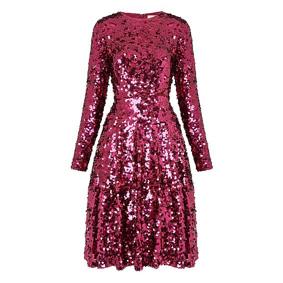Sonic Pink Sequin Dress