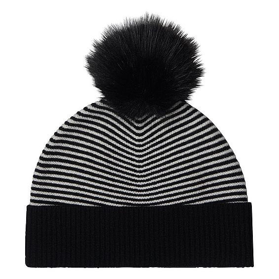 Tone Black and White Hat