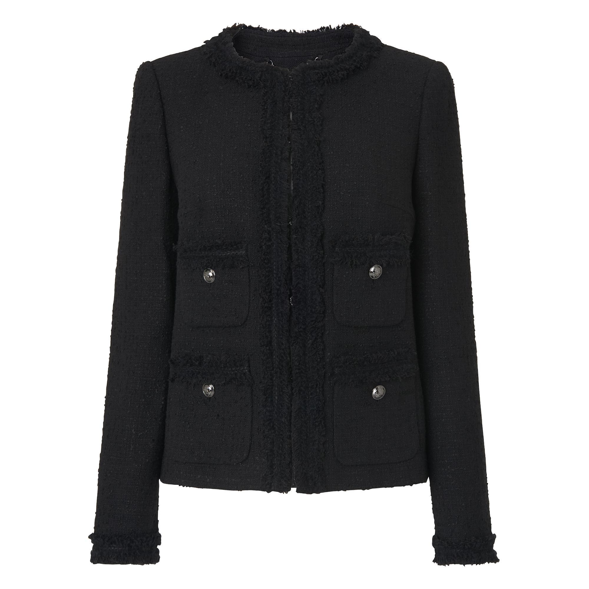 Charl Black Boucle Jacket