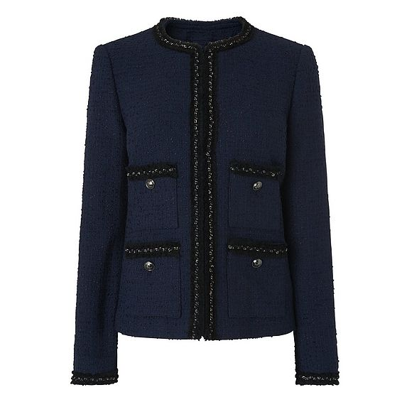 Halyna Navy Tweed Jacket