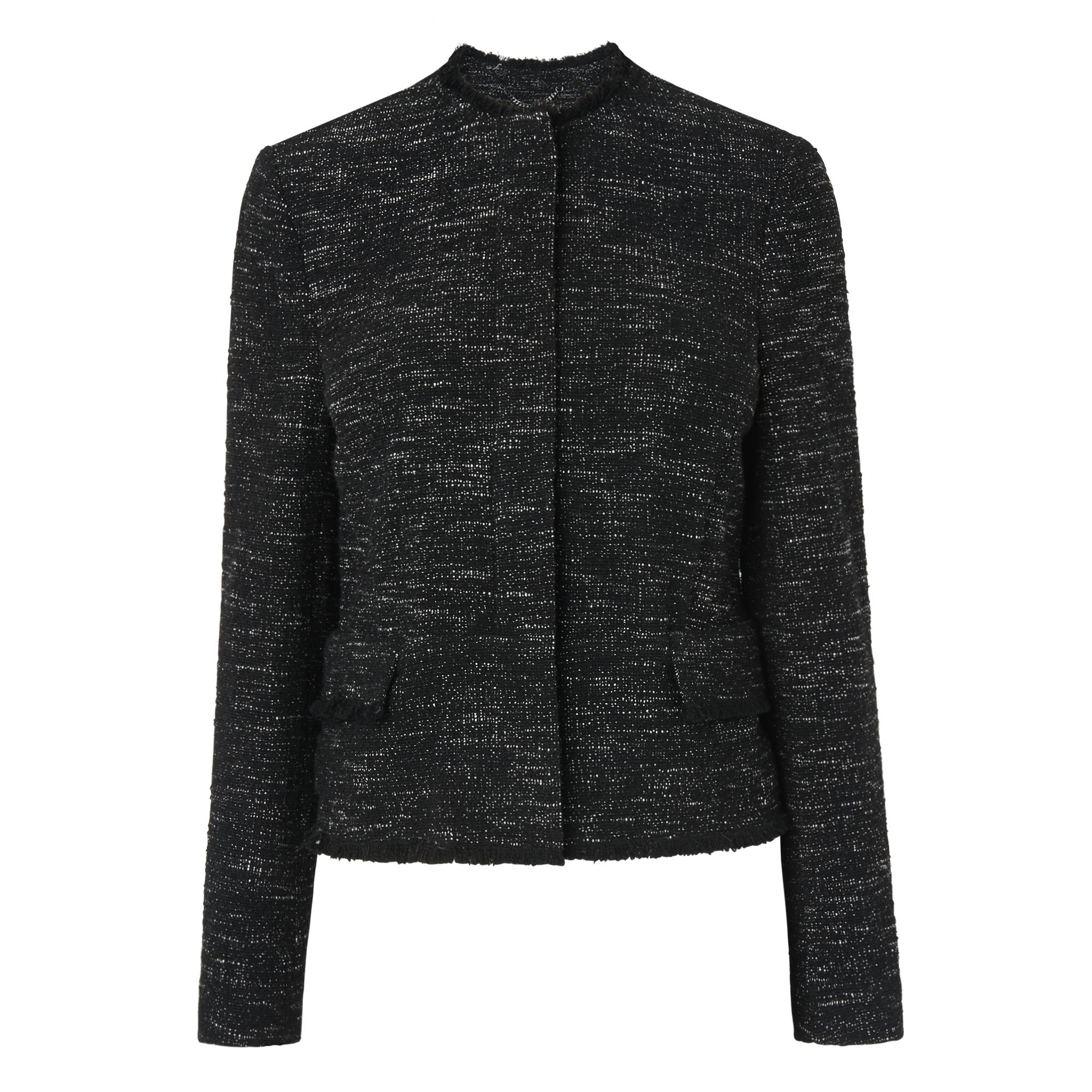 Joyce Black Tweed Jacket