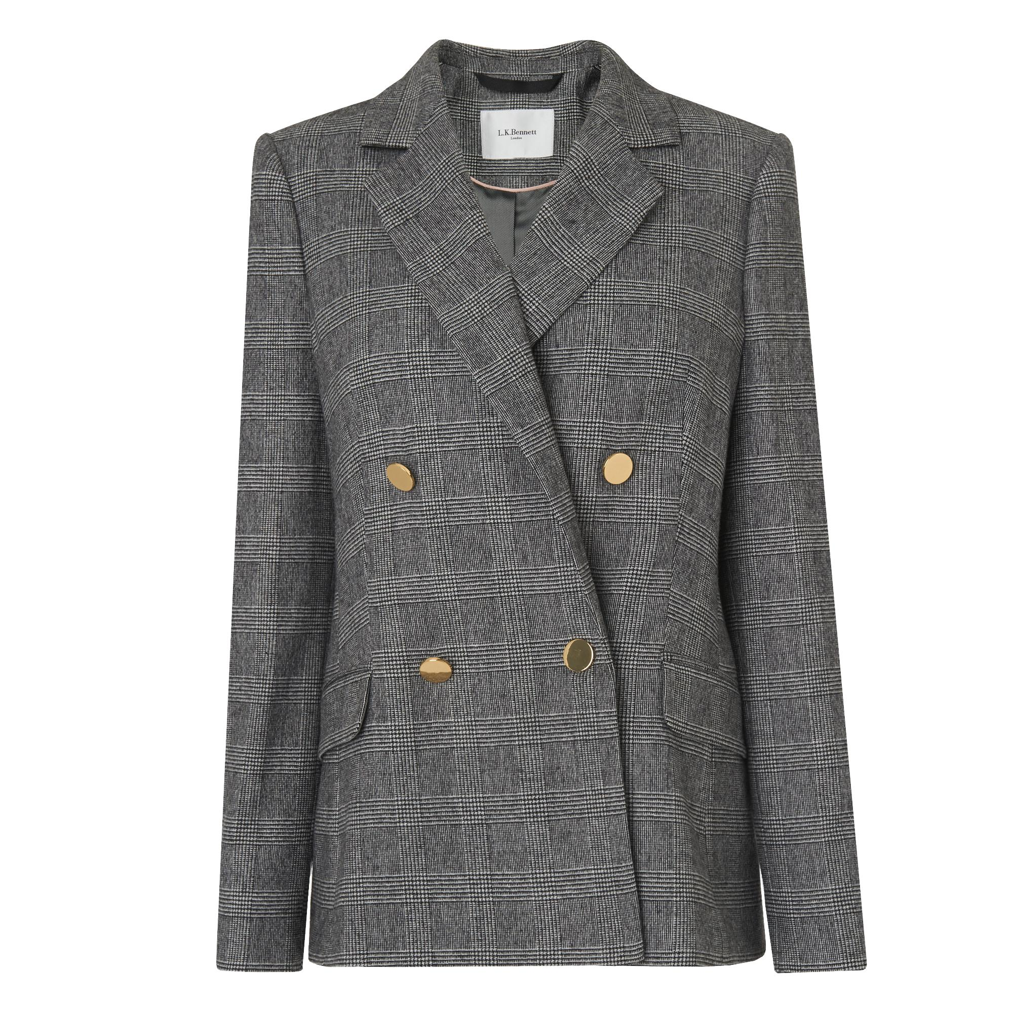Medine Grey Check Jacket