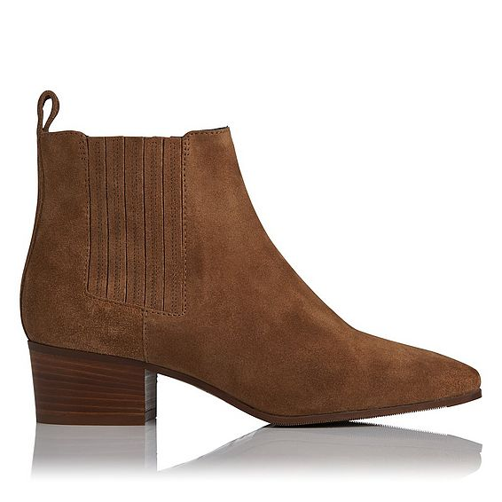 Hariett Brown Suede Ankle Boot