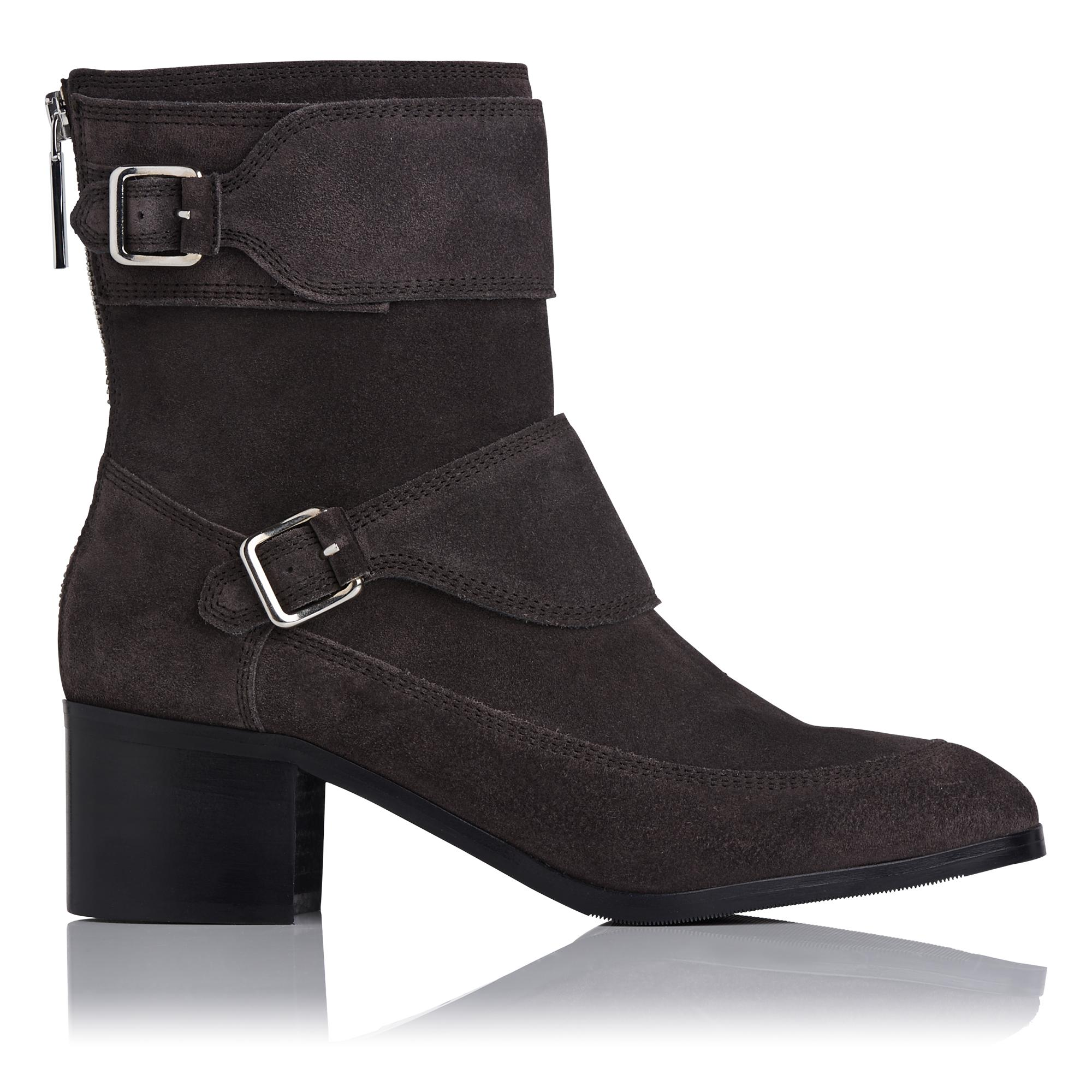 Hettie Grey Suede Ankle Boot