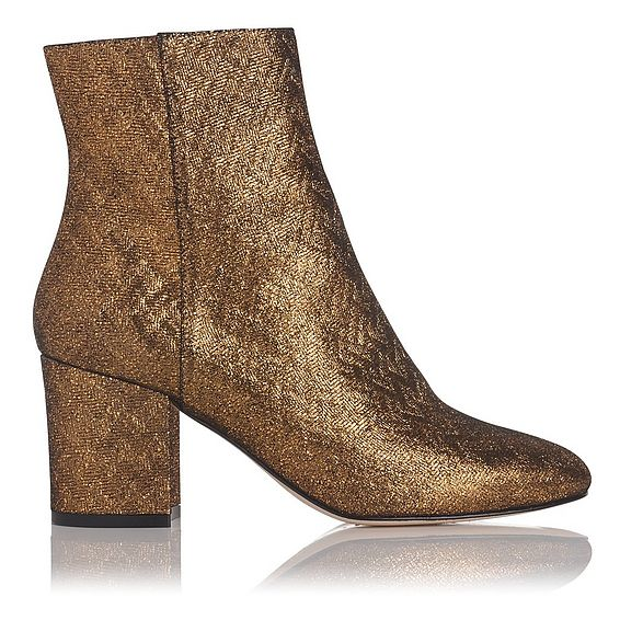 Jourdan Gold Metallic Ankle Boot