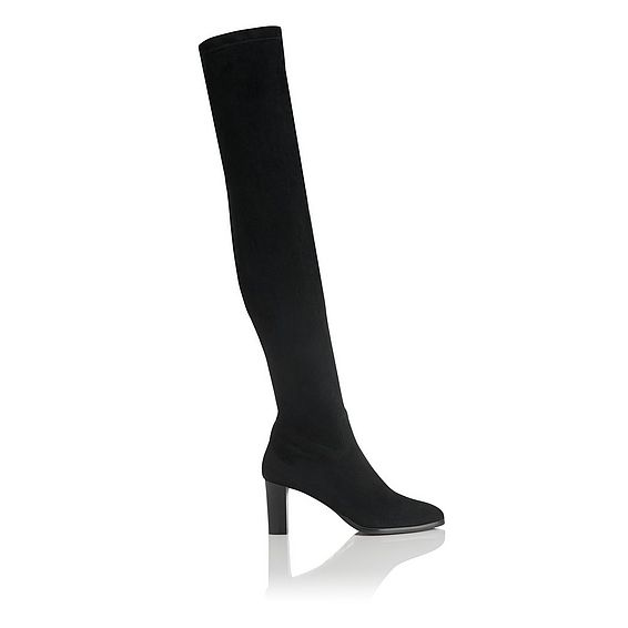Kaori Black Suede Over the Knee Boot