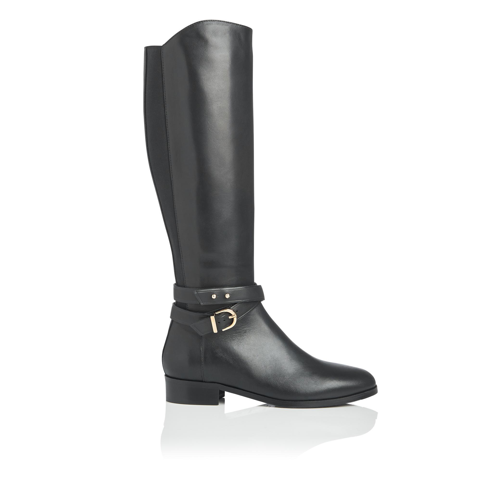 Kora Black Knee Boot