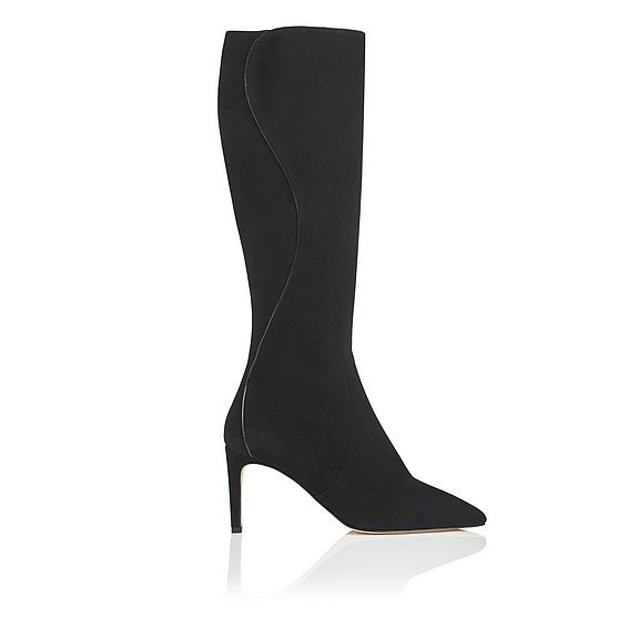 Lauran Black Knee Boot
