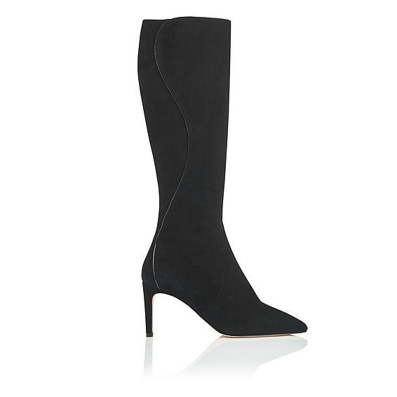 Lauran Black Knee Boot