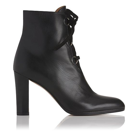 Melissa Black Leather Lace Up Ankle Boot