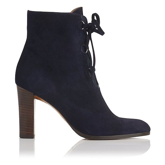 Melissa Navy Suede Lace Up Ankle Boot