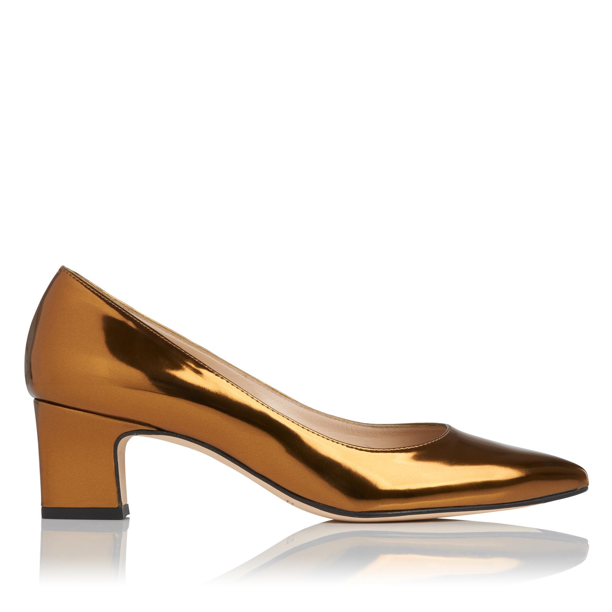 Annabelle Gold Metallic Heel