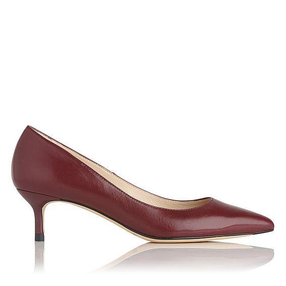 Audrey Oxblood Leather Heel