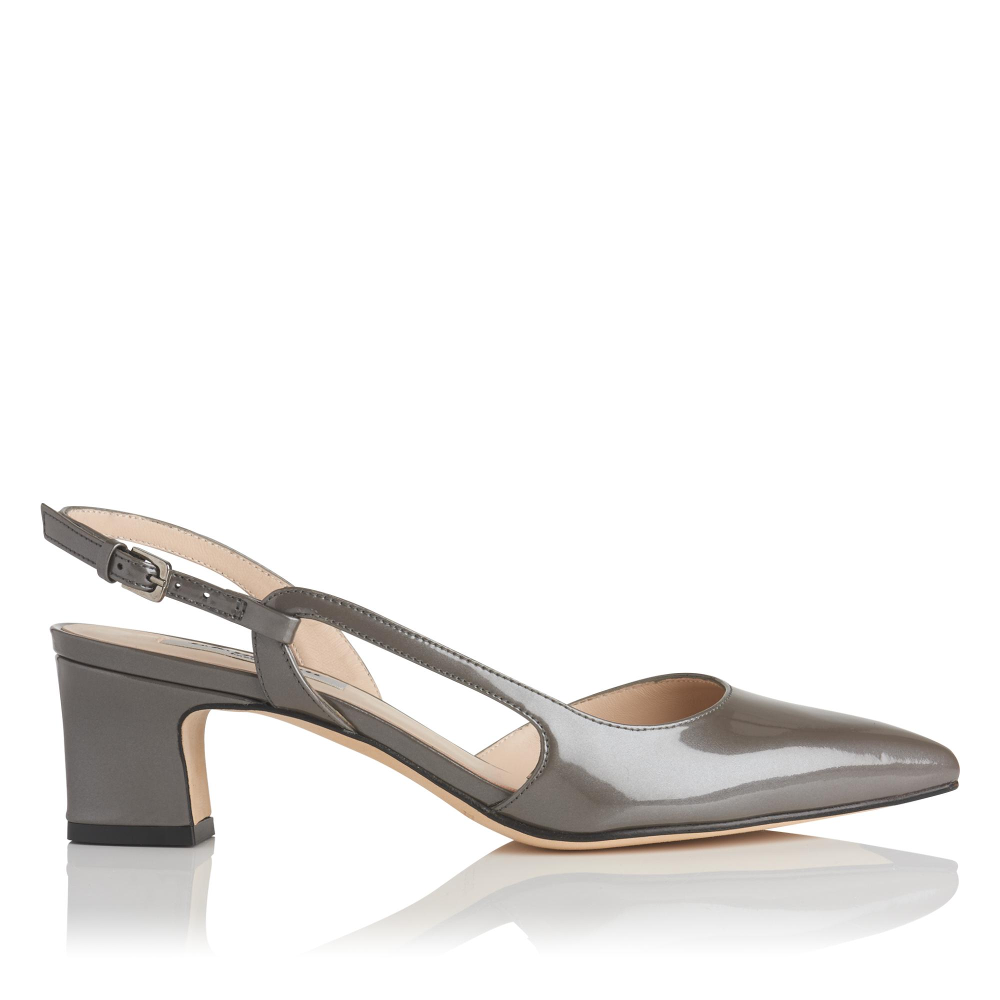 Aurora Grey Pearlized Patent Heel