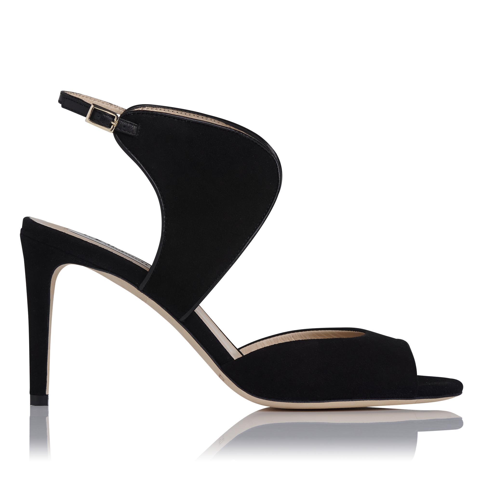 Cecilia Black Suede Heel