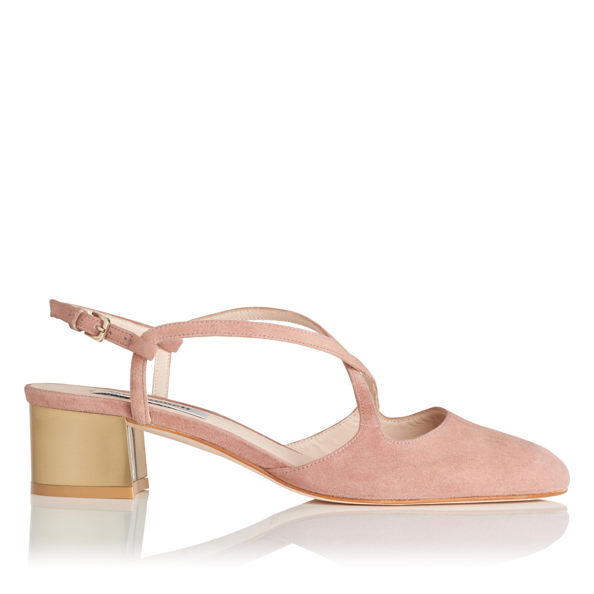 Claudette Pink Suede Heel