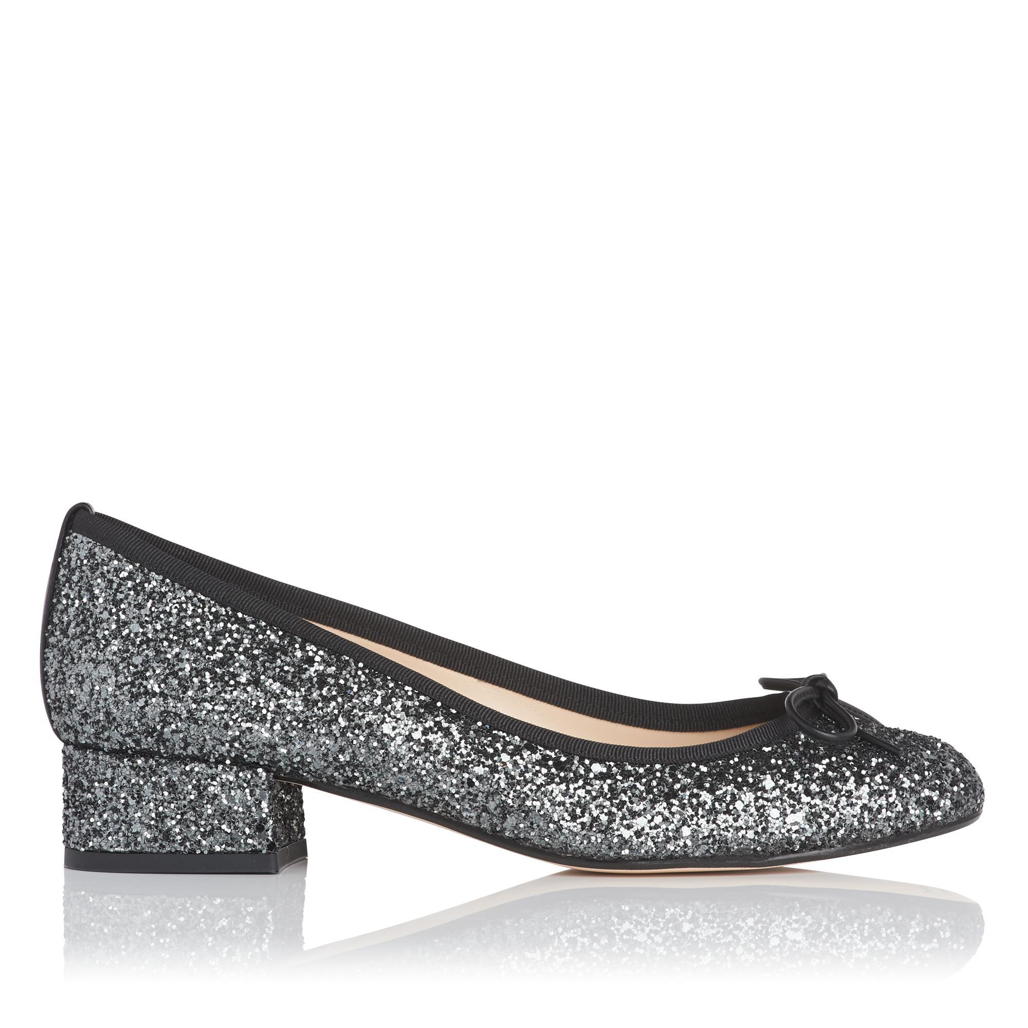 Danielle Glitter Block Heel