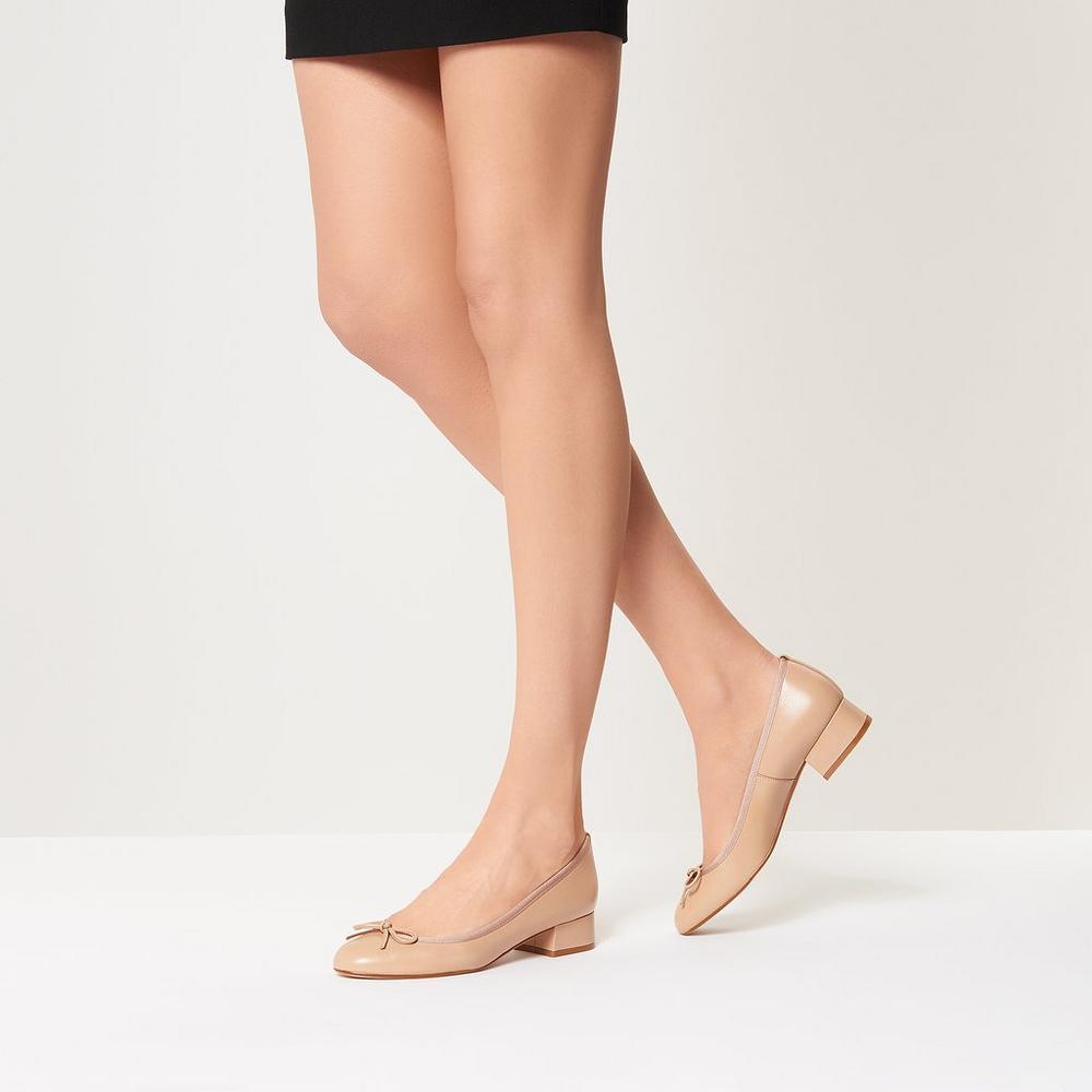 L.K. Bennett Danielle Leather Ballet Pumps