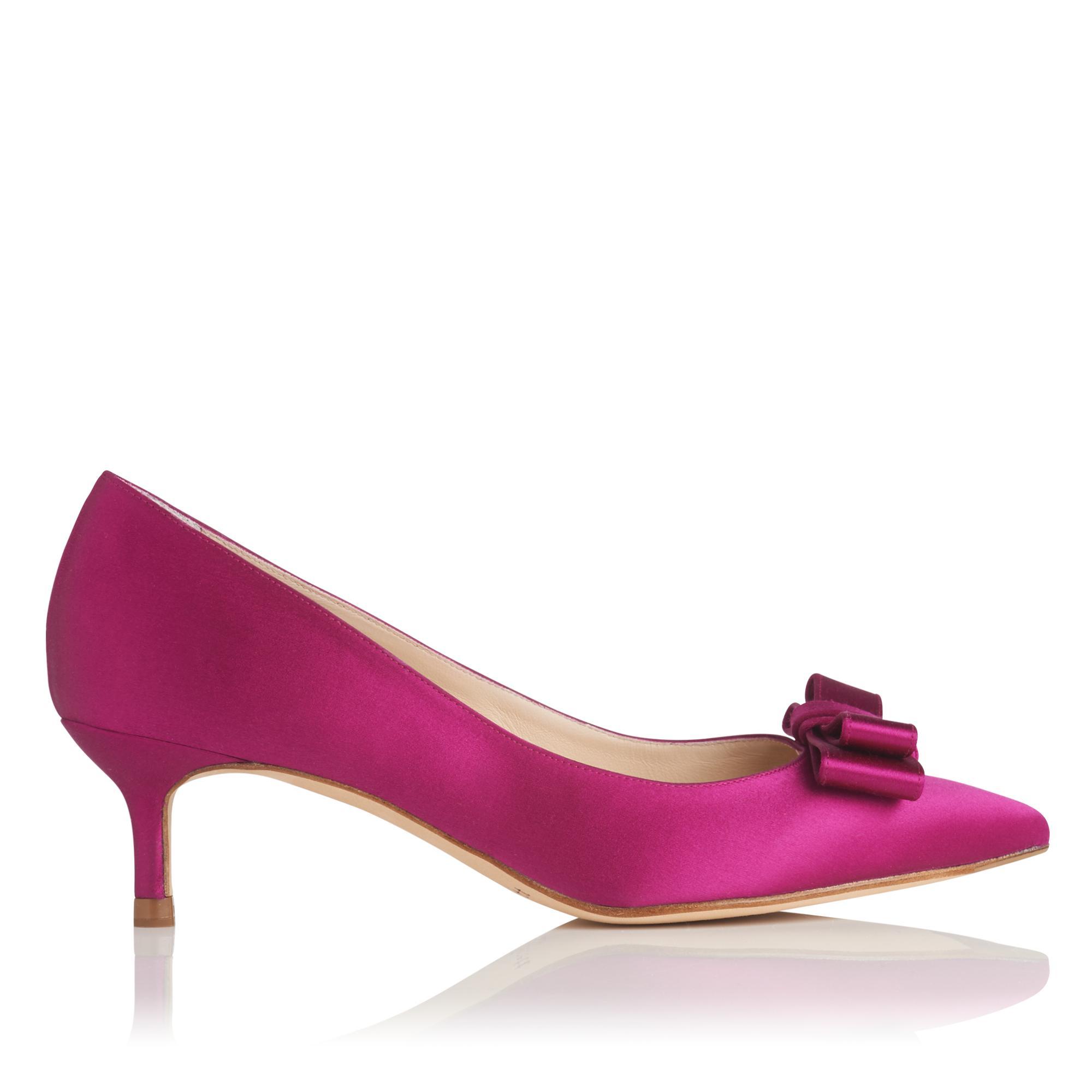 Esme Pink Satin Heel